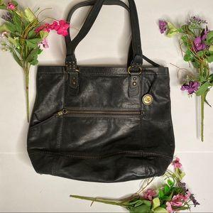 The SAK black leather hobo shopper handbag